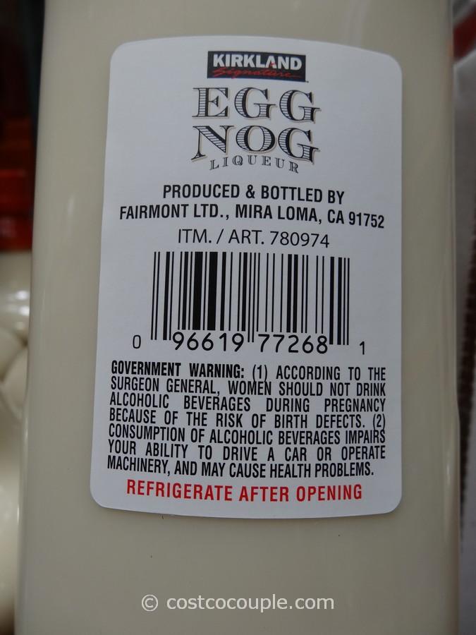 Kirkland Signature Traditional Holiday Egg Nog Liqueur