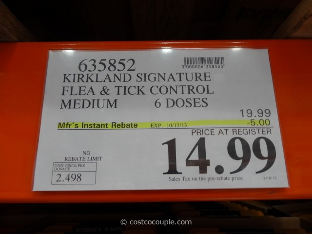 Kirkland Signature Flea and Tick Control for Dogs Costco 6