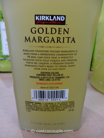 Kirkland Signature Golden Margarita Costco 2