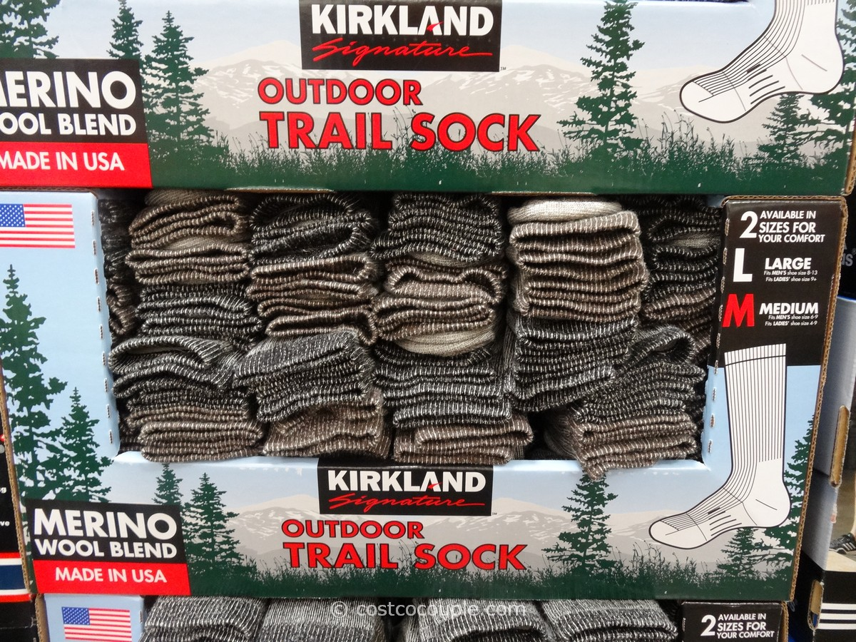 Kirkland Signature Mens Merino Wool Blend Trail Socks Costco 1