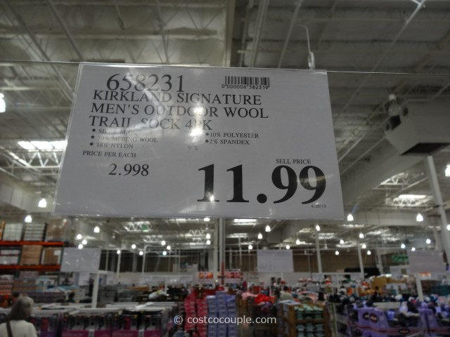 Kirkland Signature Mens Merino Wool Blend Trail Socks Costco 6