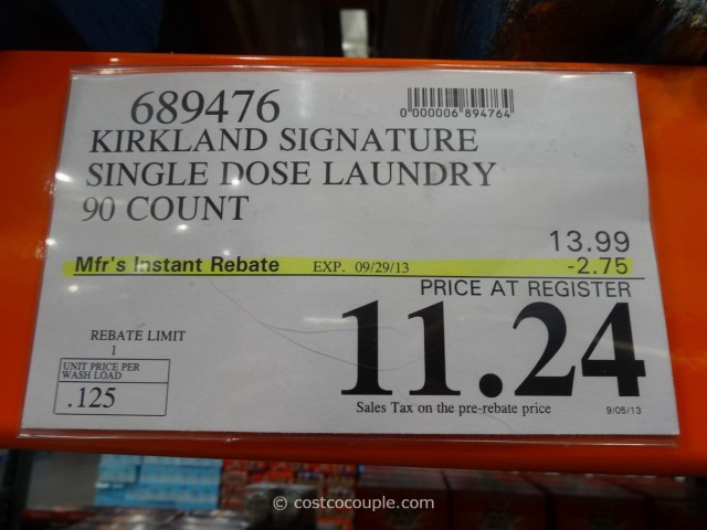 Kirkland Signature Ultra Clean Detergent Pacs Costco 4