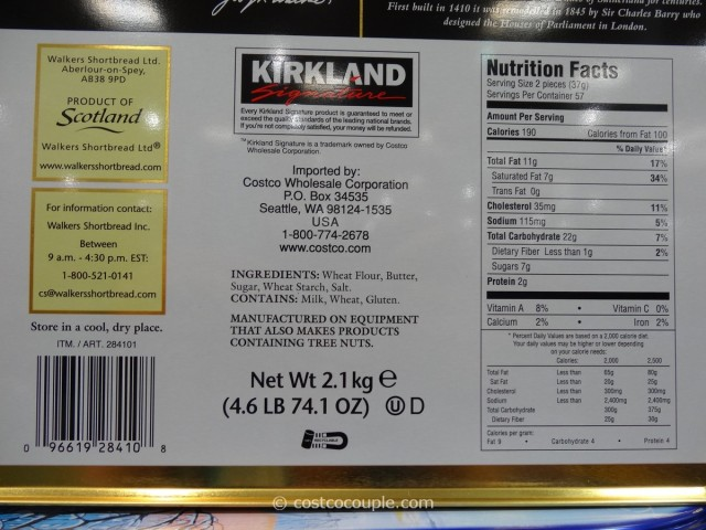 Kirkland Signature Walkers Premium Shortbread Costco 3
