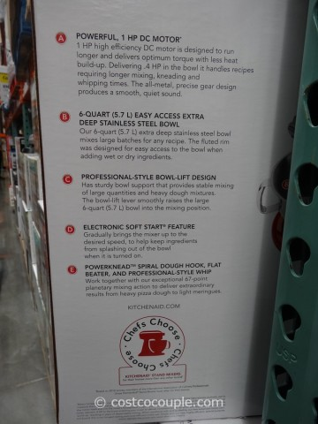 KitchenAid 6 Qt Stand Mixer Costco 7