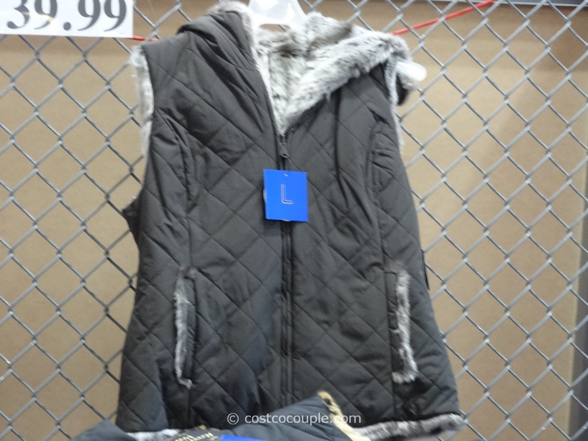 Costco Print Sizes >> Kristen Blake Ladies' Reversible Faux Fur Vest