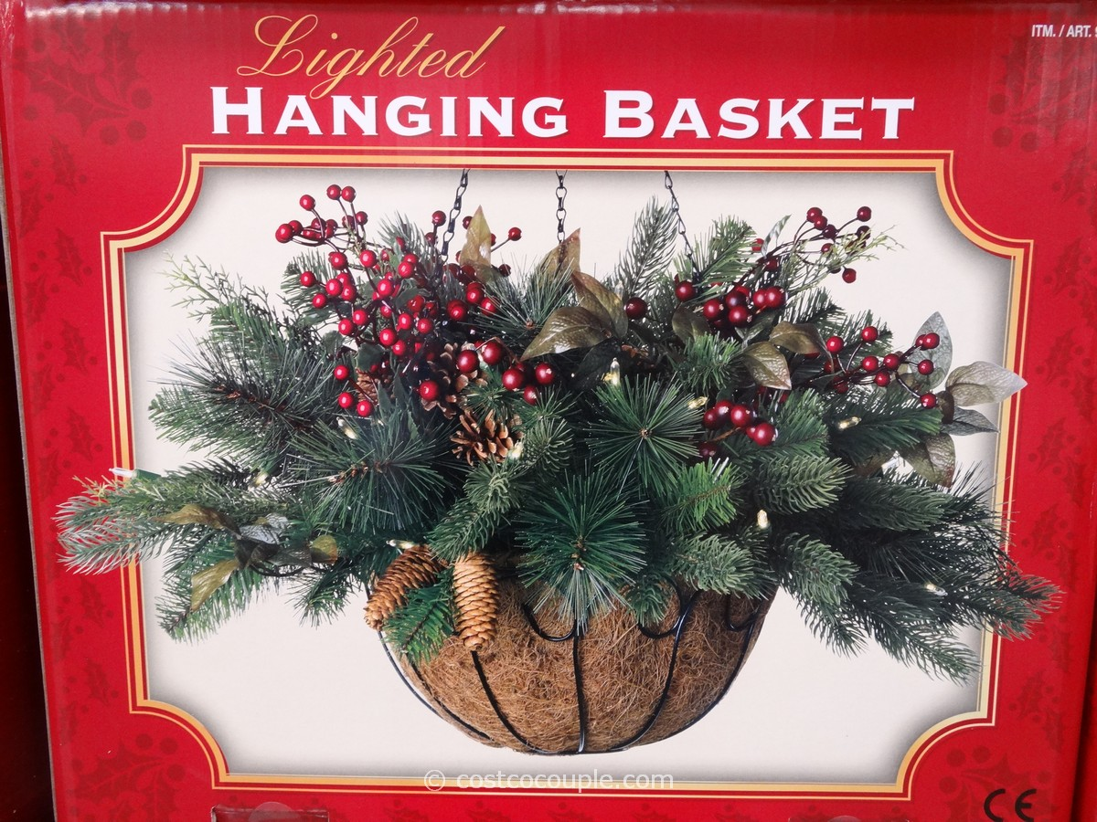 LED Lighted Hanging Basket Costco 1