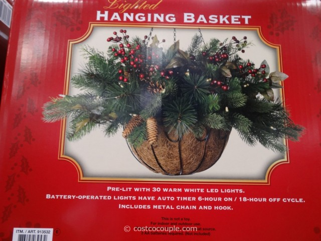 LED Lighted Hanging Basket Costco 2