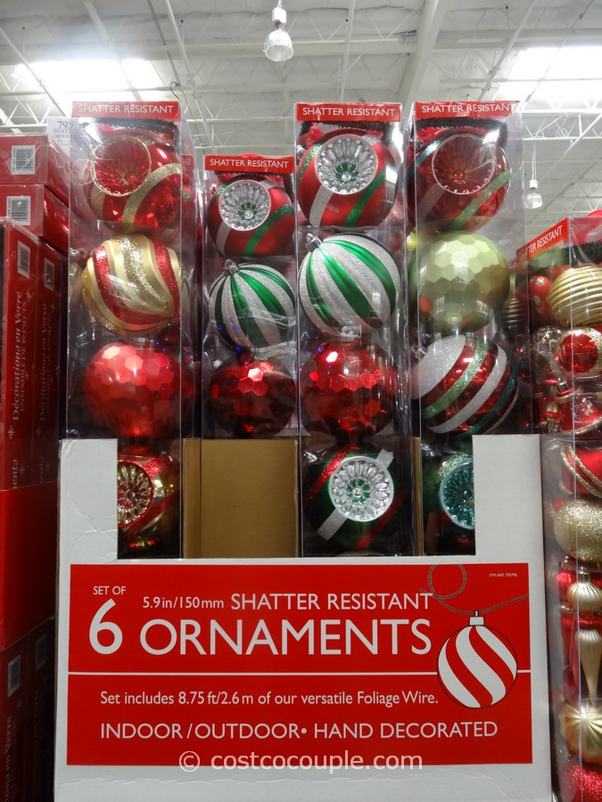 Large Shatter Resistant Ornaments Costco 1