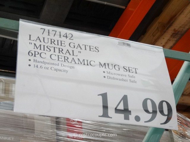Laurie Gates Mistral Ceramic Mug Set Costco 1
