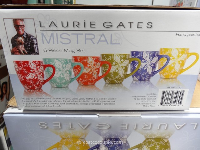 Laurie Gates Mistral Ceramic Mug Set Costco 2
