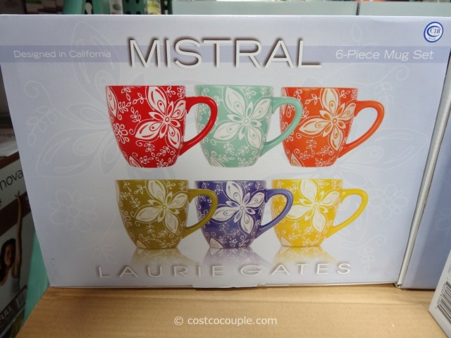 Laurie Gates Mistral Ceramic Mug Set Costco 3