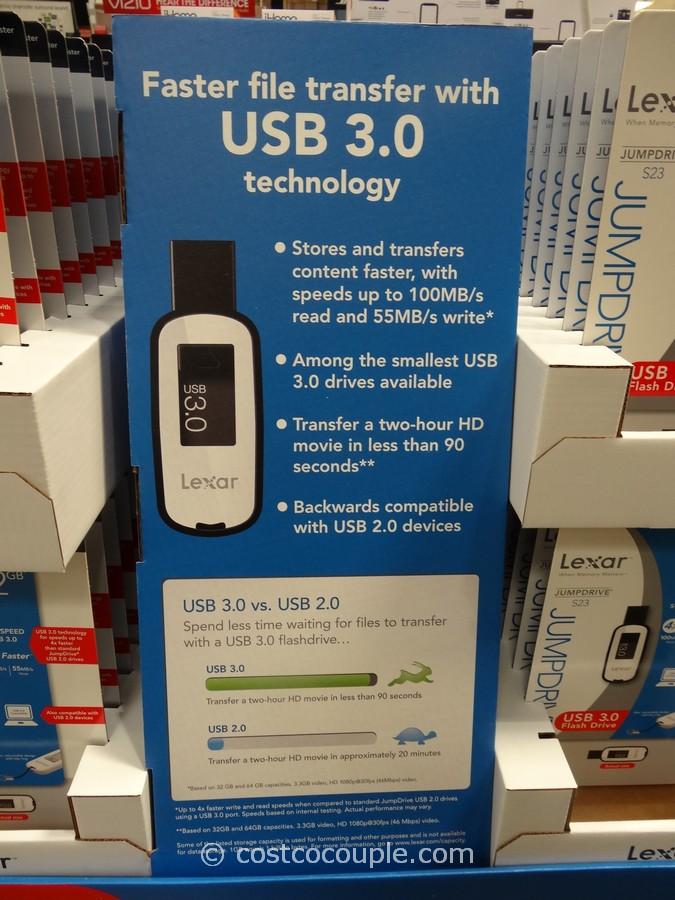 Lexar 64GB USB 3.0 Flash Drive Costco 1