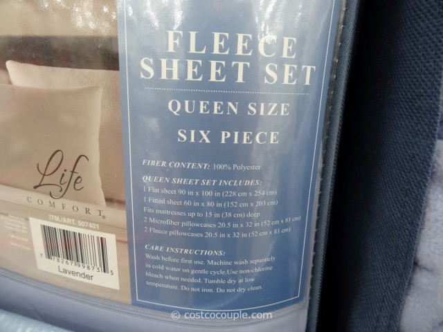 Life Comfort Fleece Sheet Set Costco 4