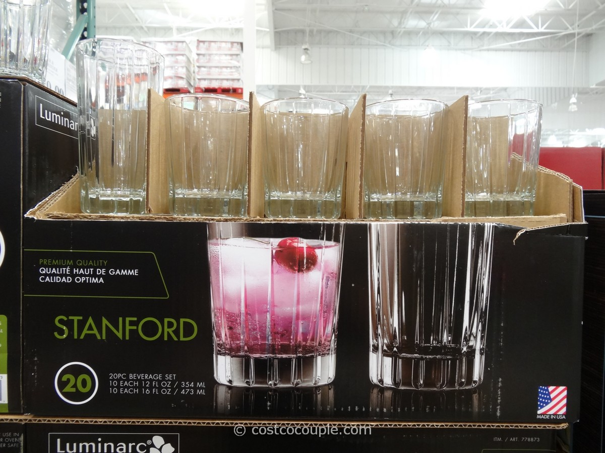 Luminarc Stanford Drinkware Set Costco 1