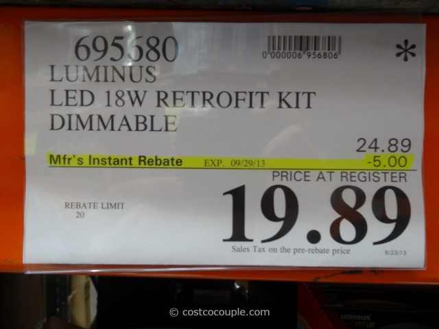Luminus LED Retrofit Kit Costco 1