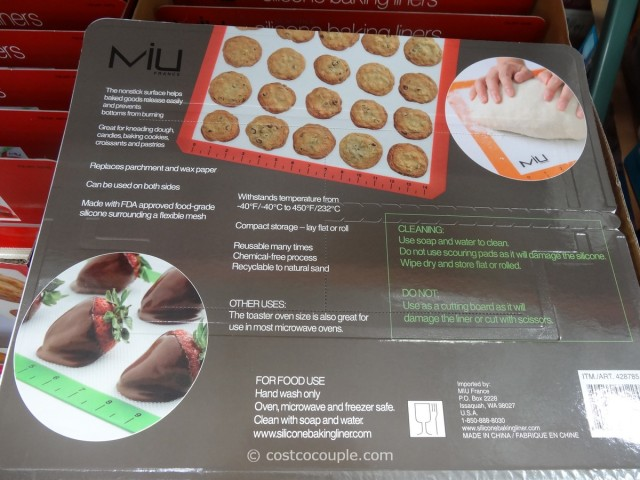 Miu France Silicone Baking Liners