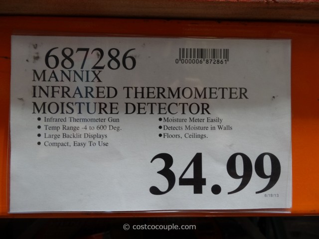 Mannix Infrared Thermometer and Moisture Detector Costco 4
