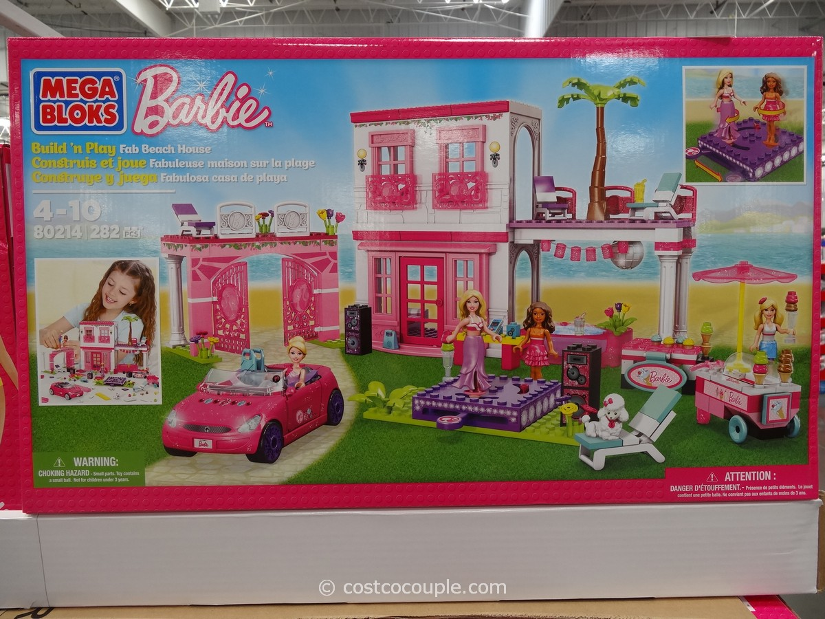 Mega Bloks Barbies Fab Beach House Costco 1