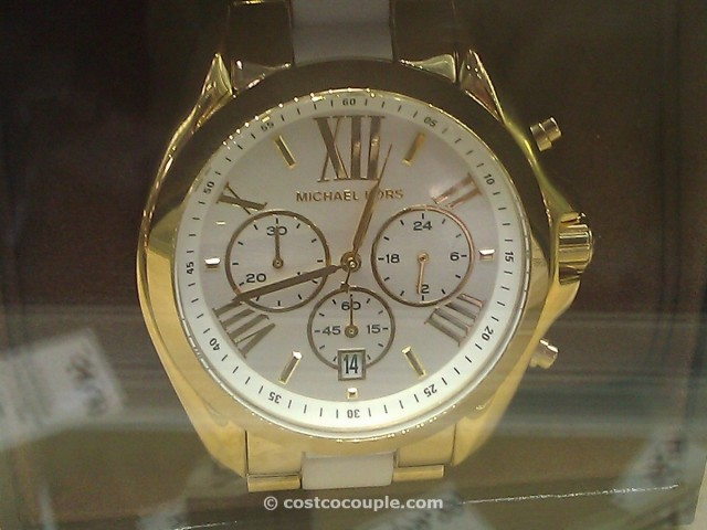 Michael Kors Ladies Gold Tone and White Resin Watch Costco 2