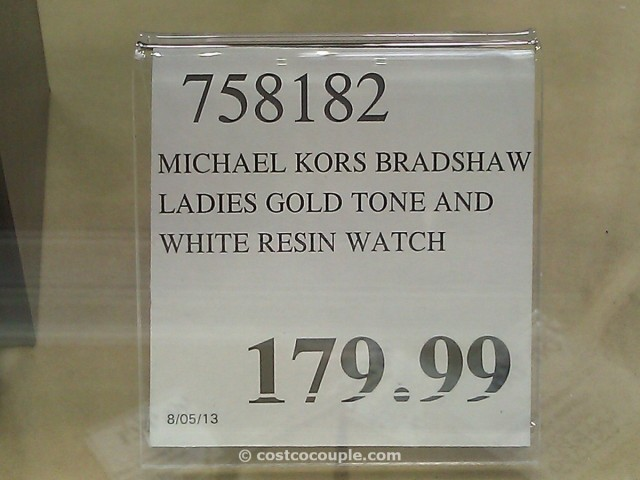 Michael Kors Ladies Gold Tone and White Resin Watch Costco 4