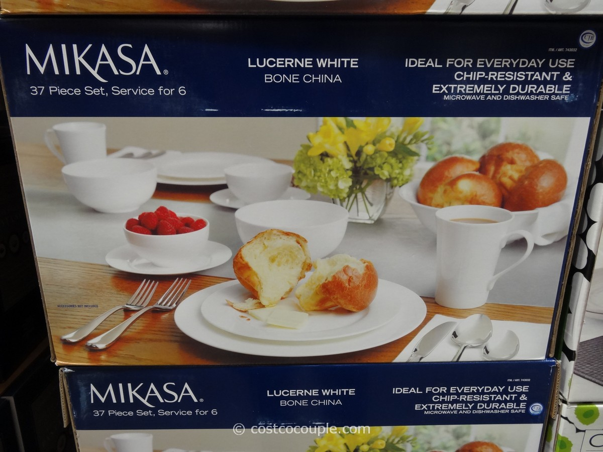 Mikasa Lucerne Bone China Dinnerware Set Costco 1