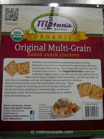 Milton's Organic Multi-Grain Crackers