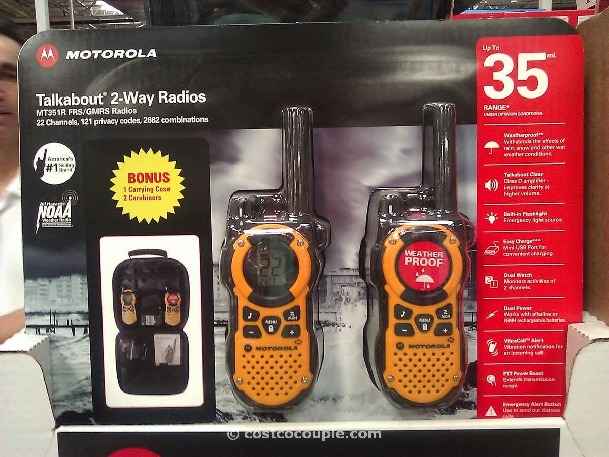 Motorola Talkabout 2-Way Radios Costco 1