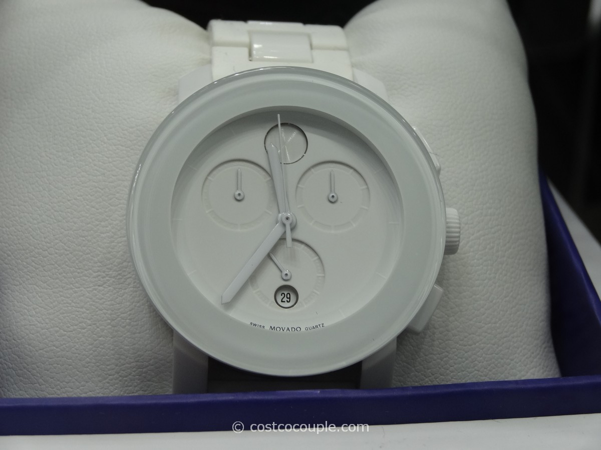 Movado Bold Ladies White Chronograph Costco 1