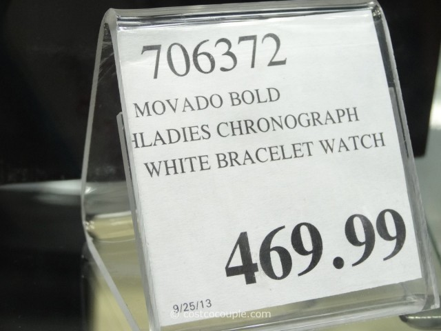 Movado Bold Ladies White Chronograph Costco 2