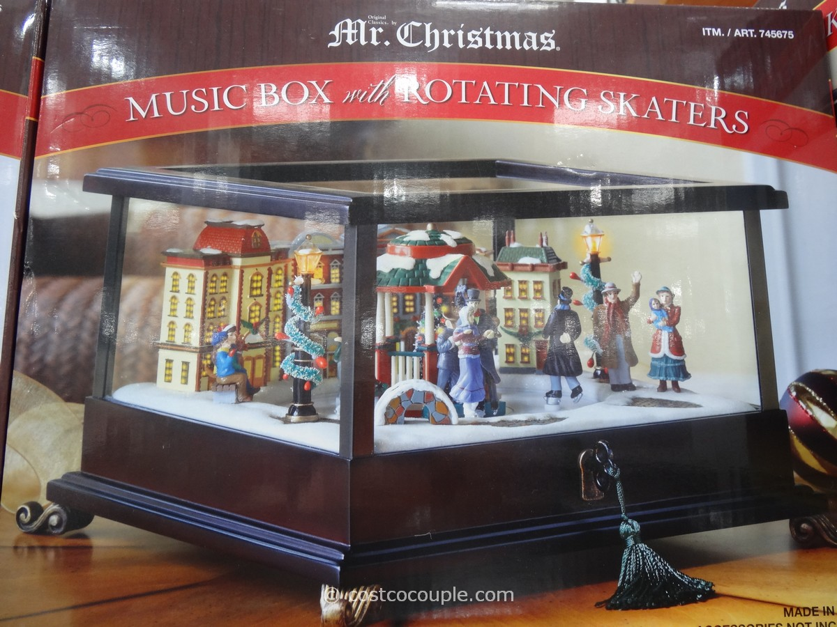 Mr Christmas Music Box with Rotating Skaters Costco 2
