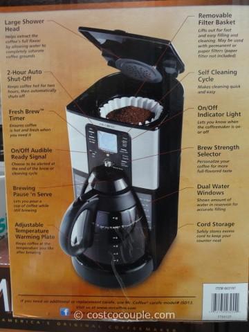 Mr Coffee 12Cup Programmable Coffee Maker Costco 4