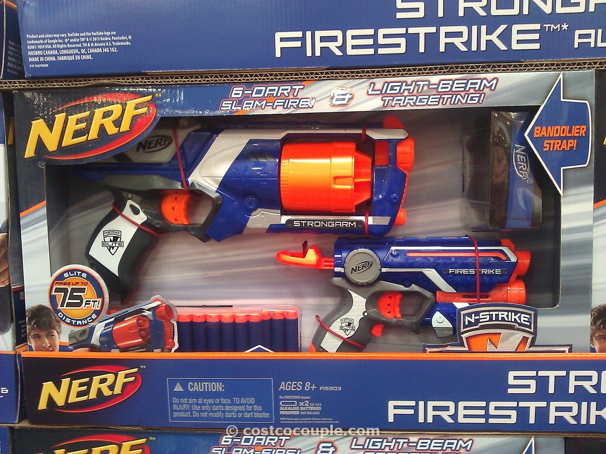 Nerf N-Strike Strongarm and Firestrike Costco 1