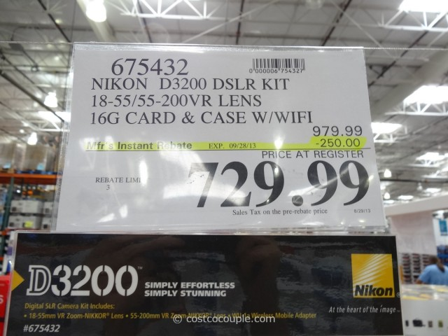 Nikon D3200 DSLR Kit Costco 2