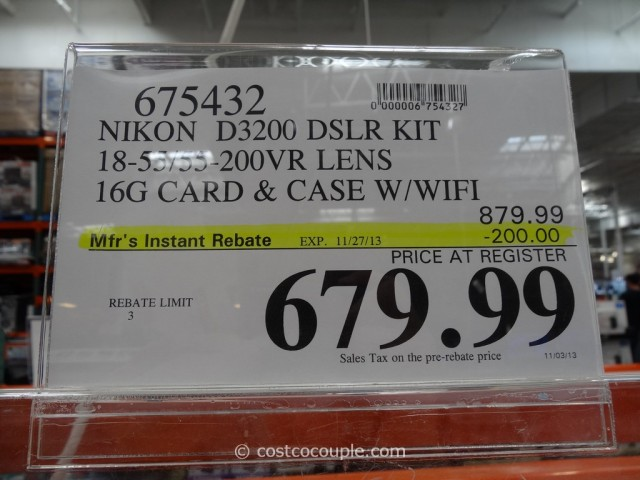 Nikon D3200 DSLR Kit Costco