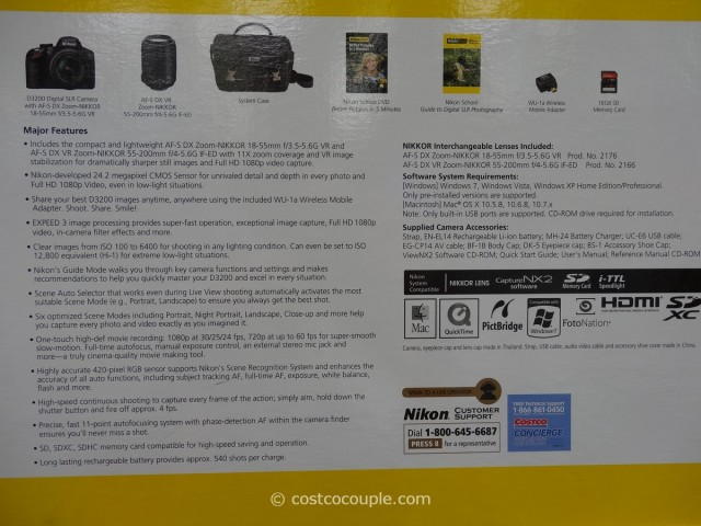 Nikon D3200 DSLR Kit Costco 7
