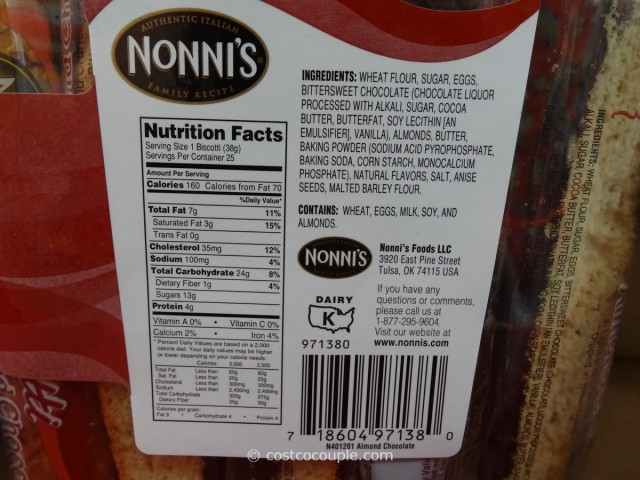 Nonnis Almond Chocolate Biscotti Costco 3