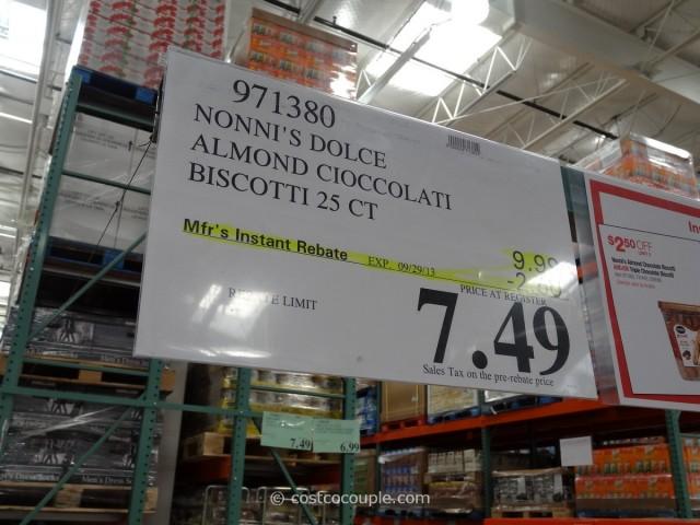 Nonnis Almond Chocolate Biscotti Costco 4
