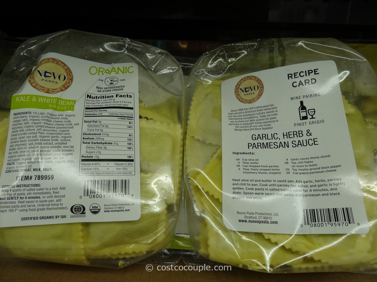 Nuovo Pasta Organic Kale And White Bean Ravioli