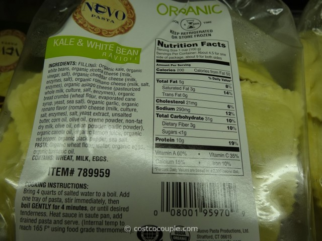 Nuovo Pasta Organic Kale and White Bean Ravioli Costco 3
