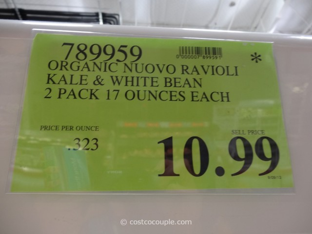 Nuovo Pasta Organic Kale and White Bean Ravioli Costco 4