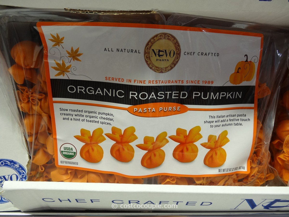Nuovo Pasta Organic Roasted Pumpkin Pasta Purse Costco 1