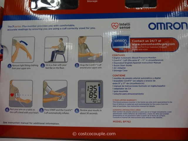 Omron 7 Series Plus Blood Pressure Monitor Costco 2