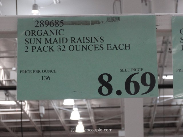 Organic Sunmaid Raisins Costco 1