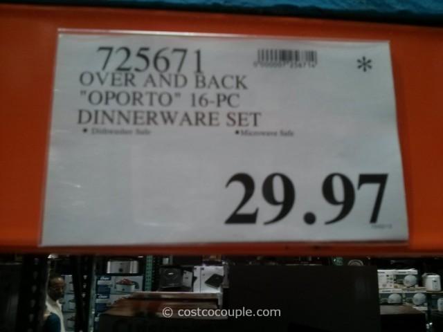 Over And Back Oporto Dinnerware Set Costco