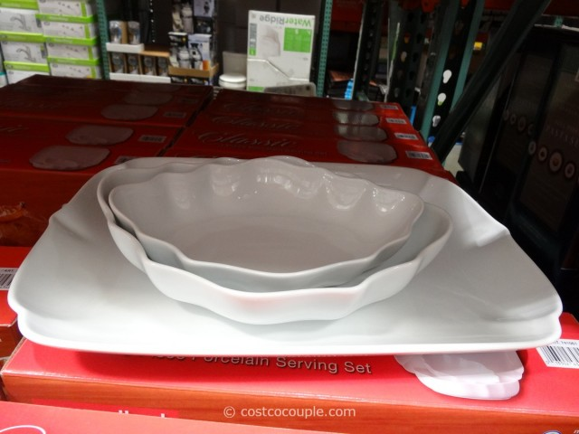 Over and Back 3-Piece Classic Porcelain Serving Set Costco 3
