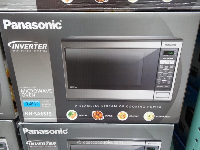 Panasonic 1 2 Cu Ft Stainless Steel Inverter Microwave Oven