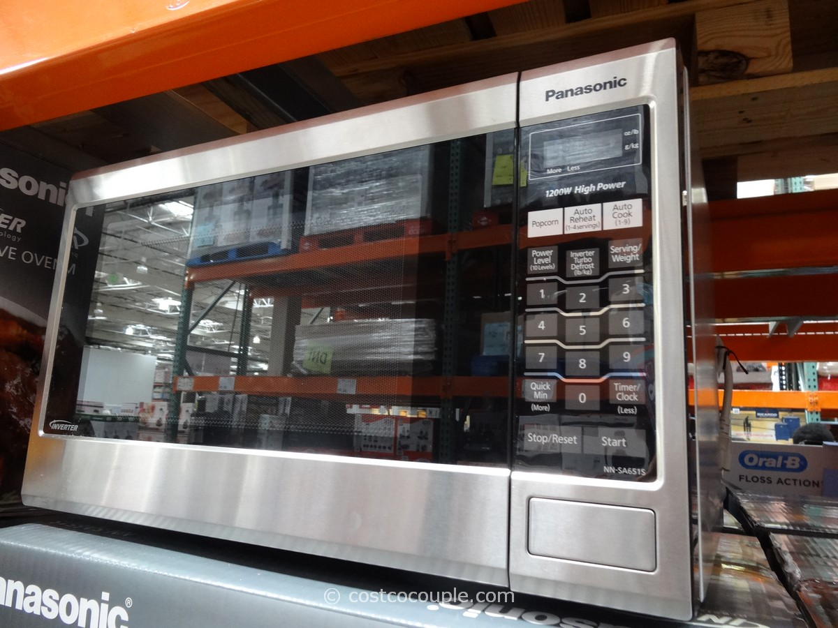 Panasonic 1 2 Cu Ft Stainless Steel Microwave Oven Costco