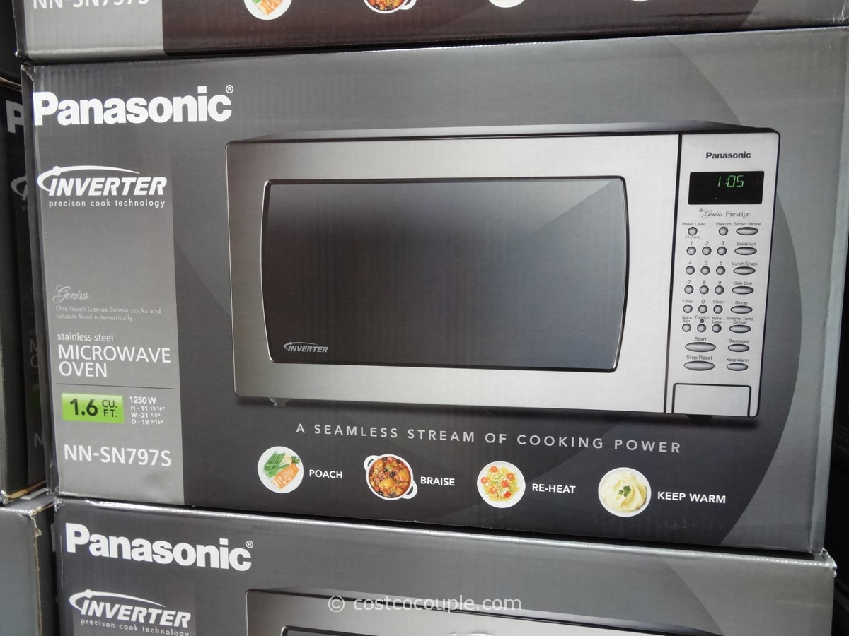 Panasonic 1 6 Cu Ft Stainless Steel Microwave Oven Costco
