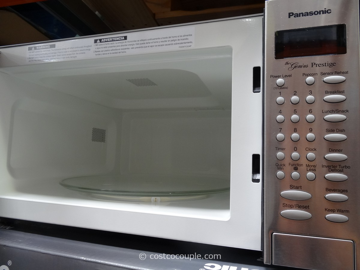 Panasonic 1 6 Cu Ft Stainless Steel Microwave Oven Costco 4