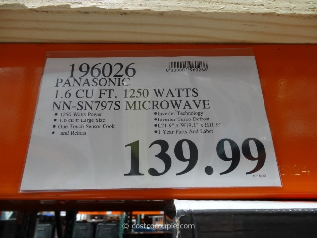 Panasonic 1.6 cu ft Stainless Steel Microwave Oven Costco 5